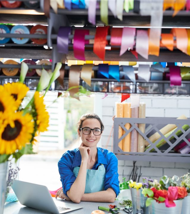 Female Flower Shop Owner